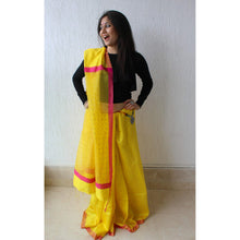 Load image into Gallery viewer, Yellow Tussar Silk