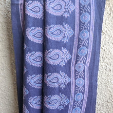 Load image into Gallery viewer, Blue Ajrakh Wool Stole