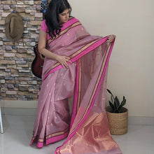 Load image into Gallery viewer, Lilac Chanderi Silk cotton
