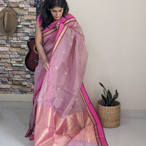 handloom chanderi cotton silk saree
