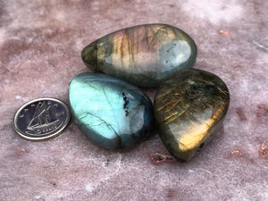 Labradorite drilled pendant