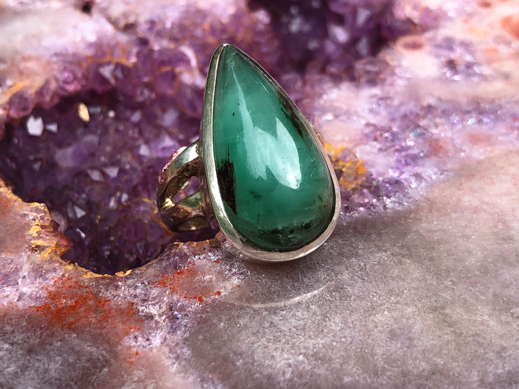 Emerald ring size 7