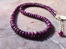 Load image into Gallery viewer, Sugilite strand with sterling silver findings