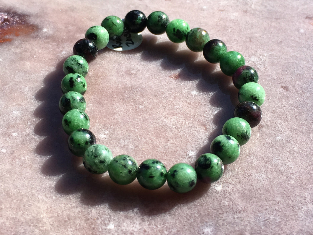 Ruby in Zoisite bracelet
