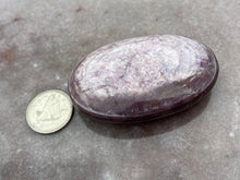 Load image into Gallery viewer, Gem lepidolite palmstone 5
