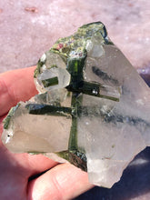 Load image into Gallery viewer, tourmaline included quartz green 2