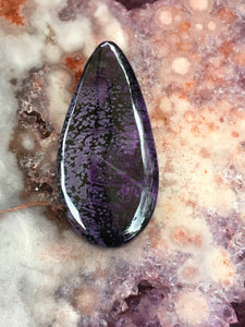 sugilite pendant drilled 2