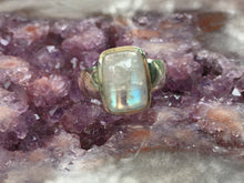 Load image into Gallery viewer, Rainbow moonstone ring size 10