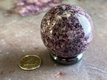 Load image into Gallery viewer, Lepidolite sphere 40mm 4