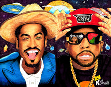 Load image into Gallery viewer, Original Art Print, Big Boi, Andre 3000, OutKast Artwork