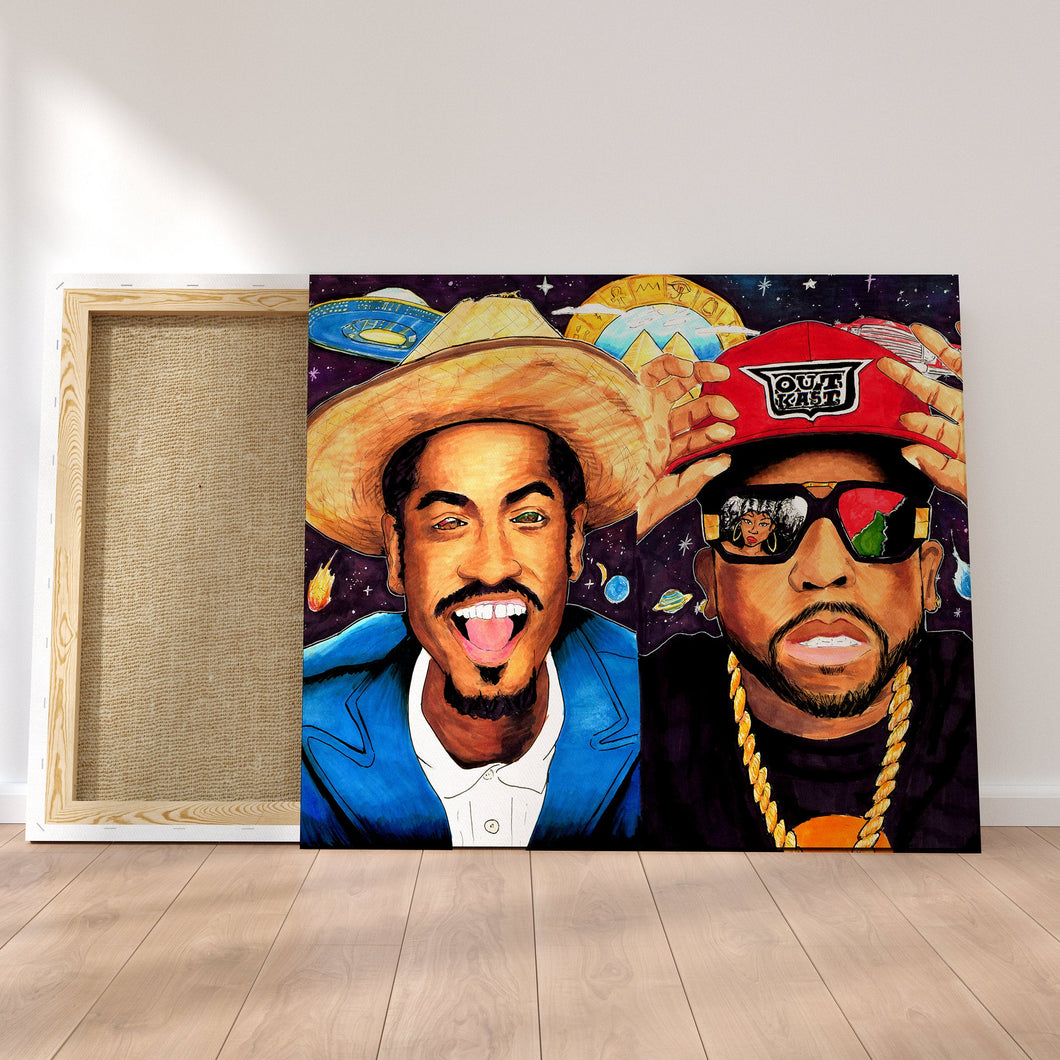 Original Art Print, Big Boi, Andre 3000, OutKast Artwork