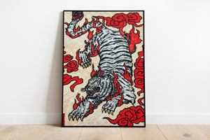 "Original Art Print - ""Byakko"" (White Tiger)"