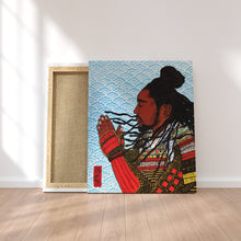 "Load image into Gallery viewer, Original Art Print, Black Samurai Artwork - ""Faith"""