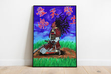 "Load image into Gallery viewer, Original Art Print, Black Samurai Artwork - ""Surrender"""