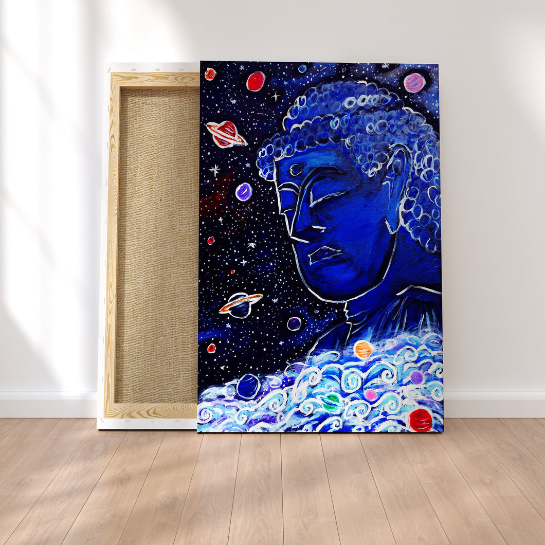 Original Art Print, Buddha Wall Art on Canvas or Poster, Buddha Statue -