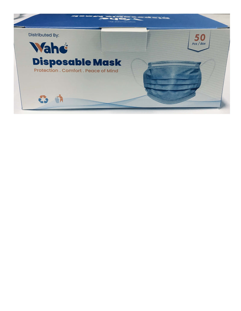 WAHO - Level 2 Disposable face mask - Box of 50 -1/BX