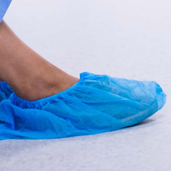 shoe Covers - Non woven Blue - Roll of 100