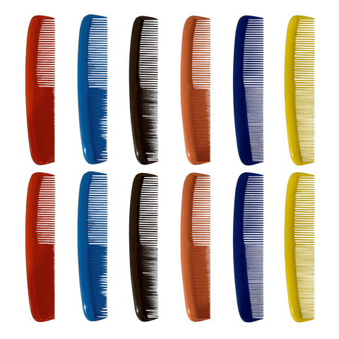 7 Inch Colorful Hair Combs for Men and Women