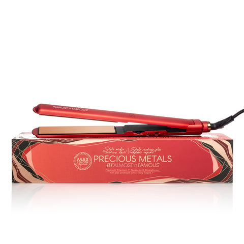"Almost Famous 1"" MaxLength Flat Iron with Rose Gold Titanium Plates"