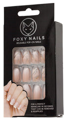 Foxy's Marble/Peach/Pink Coffin Nails