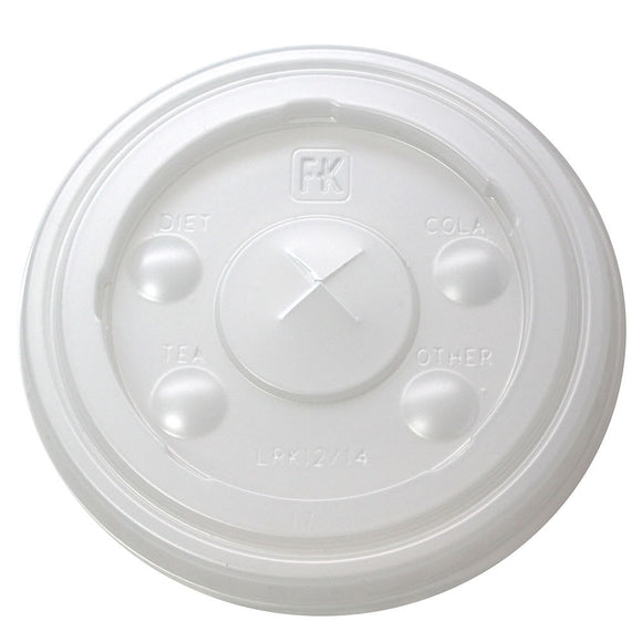 Fabri-Kal X-Slot Flat Lid for Translucent Cups