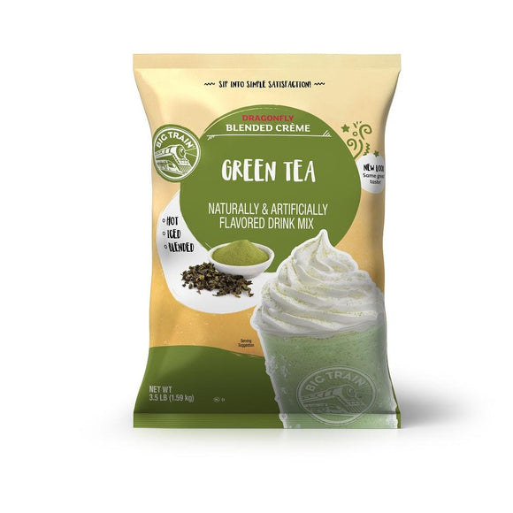 Big Train Dragonfly Green Tea Blended Creme Beverage Mix Front