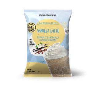Big Train Vanilla Latte Blended Ice Coffee Beverage Mix Front
