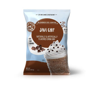 Big Train Java Chip Blended Ice Coffee Beverage Mix Front