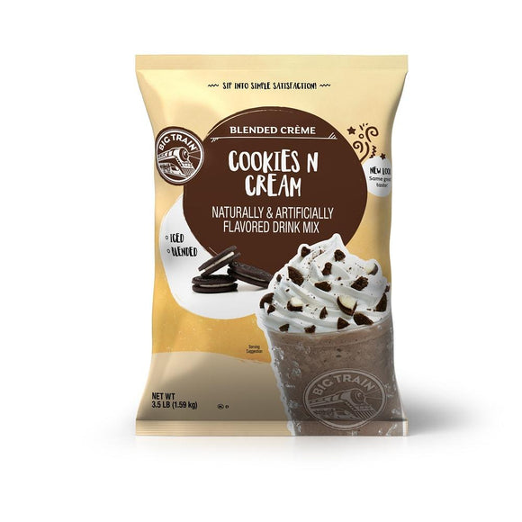 Big Train Cookies N Cream Blended Creme Beverage Mix Front