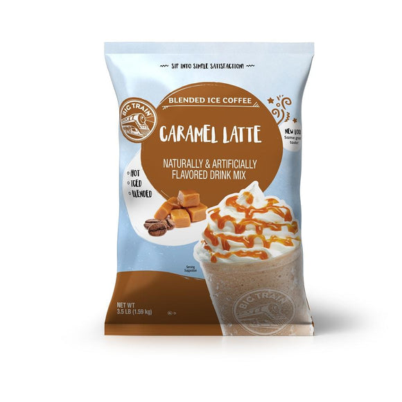 Big Train Caramel Latte Blended Ice Coffee Beverage Mix Front