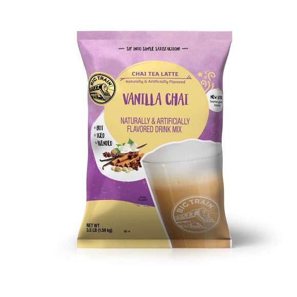 Big Train Vanilla Chai Tea Latte Beverage Mix Front