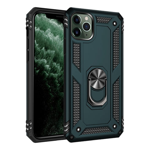 iPhone 11 Pro X XR XS Max 6 6S 7 8 Plus Military Grade Case with Kickstand Magnetic Car Mount