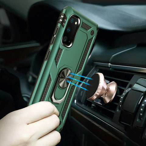 Image of Samsung Galaxy S20 S20+/S20 Ultra 5G S10 S9 Note 10 Plus A51 Case with Kickstand Magnetic Car Mount