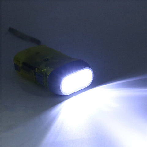 LED Hand Crank Power Wind Up Flashlight