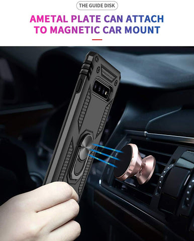 Samsung Galaxy S20 S10 S9 S8 Note 10 Plus Military Grade Case with Kickstand Magnetic Car Mount