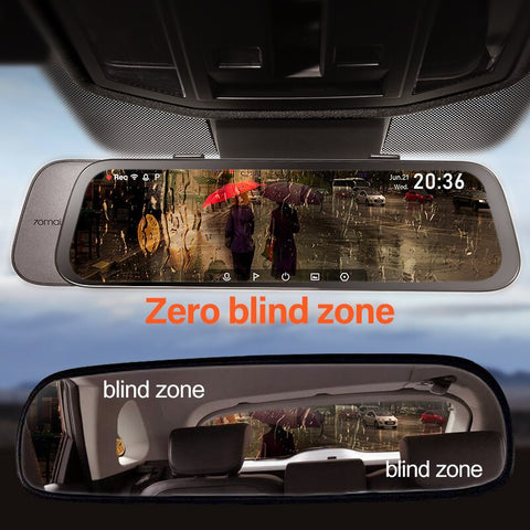 Image of 70mai 9.35 inches 1080P 130° Wide Angle Car media Dash camera Dual Lens Video Recorder