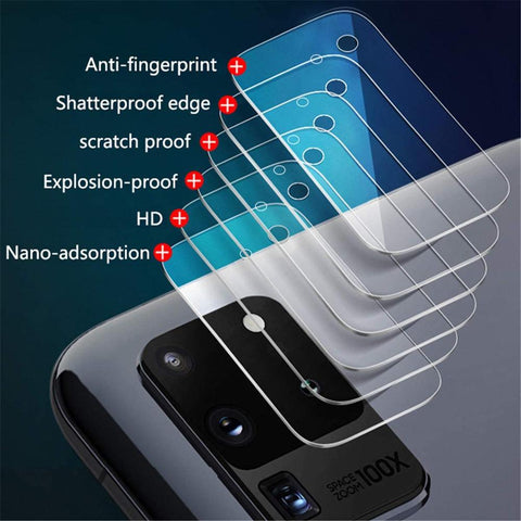 4 Piece Samsung Galaxy S20 S20+ S20Ultra Note20 Note20Ultra Tempered Glass Camera Lens Protector