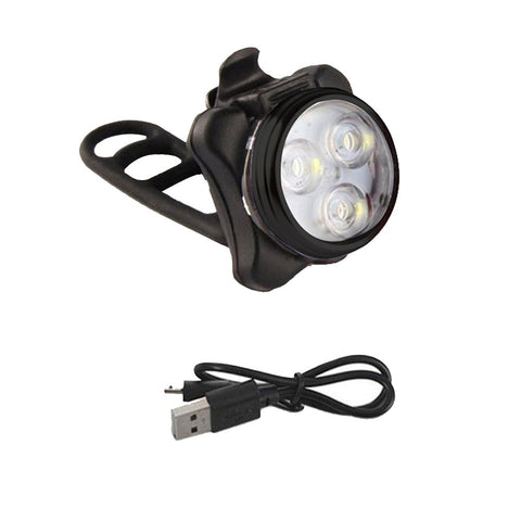 LED USB Rechargeable 4 Mode Bicycle Lights