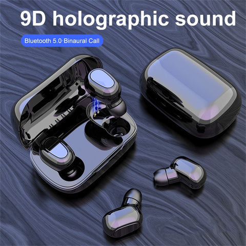 True HIFI Wireless Bluetooth 5.0 Magnetic Charging Box Earbuds