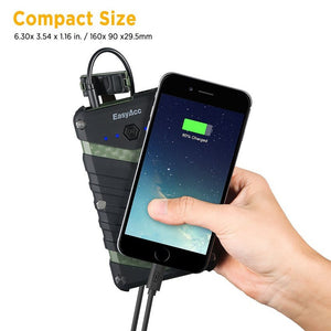 20000mAh Waterproof Power Bank 2USB Port with Flashlight