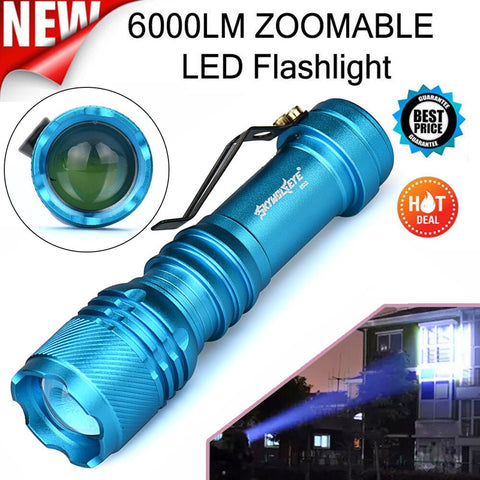 Image of 6000LM 3 Mode Zoomable LED Flashlight