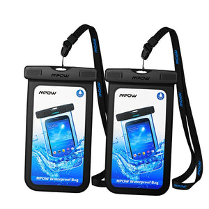 Special 2-PACK Universal WATERPROOF PHONE POUCH Keeps Your Phone Dry & Safe Even In Extreme Conditions!
