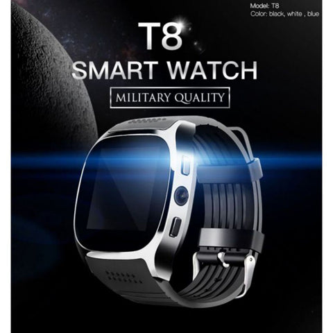 New Smartwatch Intelligent Bluetooth Sport Smart Watch T8 Pedometer For Phone Android Wrist Watch Support SIM TF Card Call