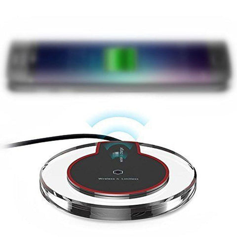 Image of Wireless Charger Ultra Thin Led Qi Wireless Charging Pad For iphone XS X 8 Plus Samsung Huawei Mate 20 Pro Charger