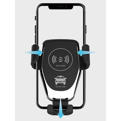 USPS Wireless Car Charger Qi Fast Wireless Charging Car Mount Gravity Linkage Air Vent Phone Holder for Samsung GalaxyS10/S10+