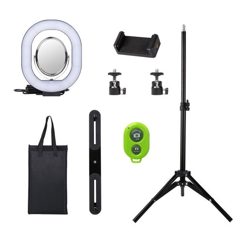Image of Yizhestudio 2 in 1 LED Light Ring Lighting Kit Photo Lamp for Video Live Youtube  Selfie lamp with Bluetooth Tripod Phone Hold