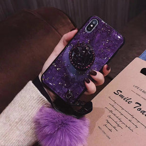 iPhone 11 Pro X XR XS MAX 7 8 6s Plus Diamond Glitter Phone Case with Holder Ring