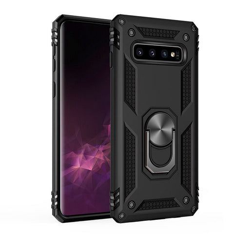 Image of Samsung Galaxy S20 S10 S9 S8 Note 10 Plus Military Grade Case with Kickstand Magnetic Car Mount