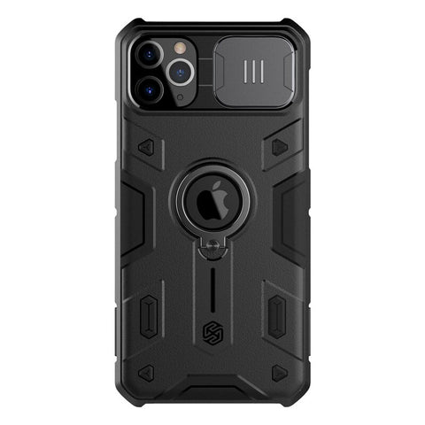 iPhone 11 Pro Max /iPhone 11 Case with Ring Stand and Camera Slide Cover