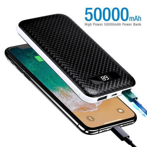 Dual USB LCD Display Power Bank